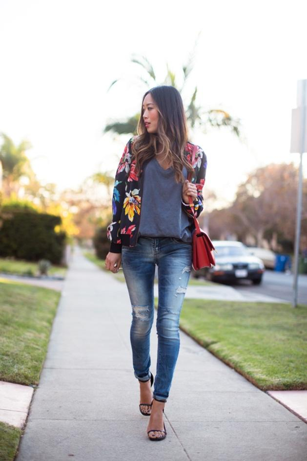 Quần jeans skinny và giày cao gót
