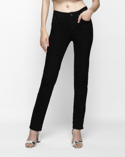Hình ảnh quần jeans nữ ống đứng màu đen của AAA JEANS