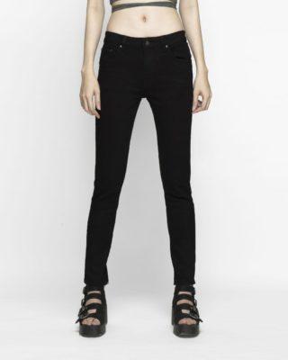 hình ảnh quần jeans nữ skinny đen lưng vừa của AAA JEANS