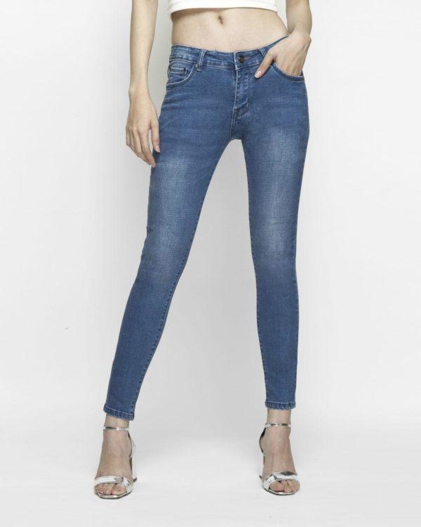 Quần jeans nữ skinny xanh biển