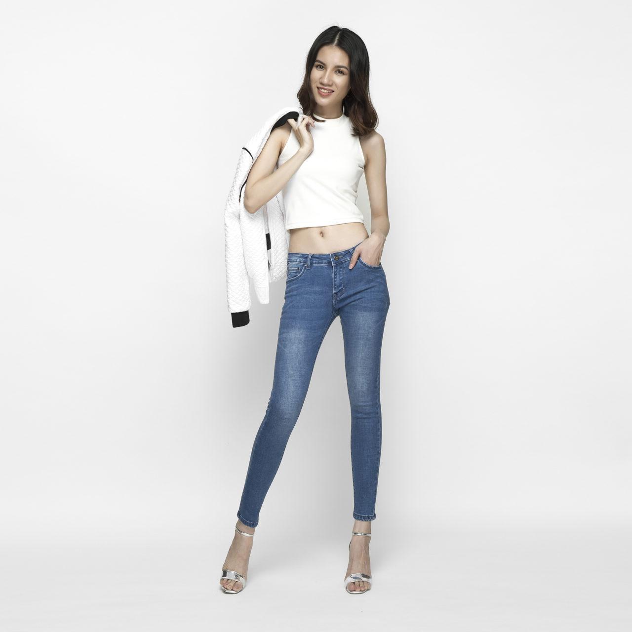 Quần jeans nữ skinny xanh biển 6