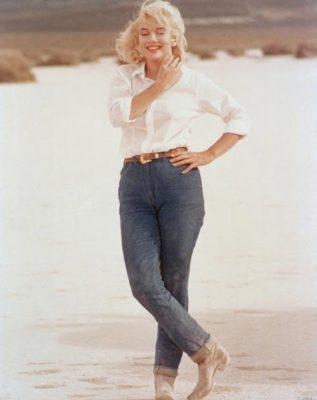 quần jean nữ của Marilyn Monroe