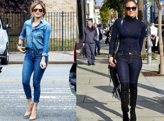 Jenifer Lopez với quần jean