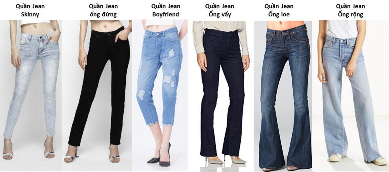 Các loại quần jean