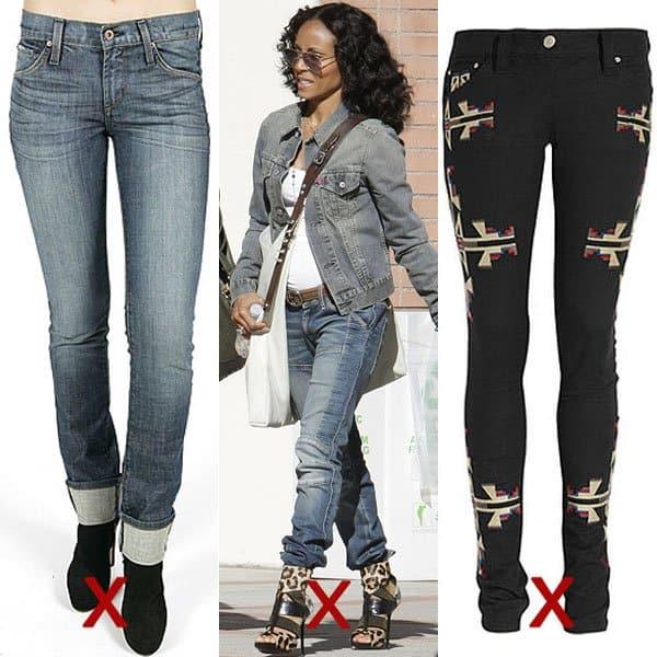 quần jean ống đứng cho người thấp