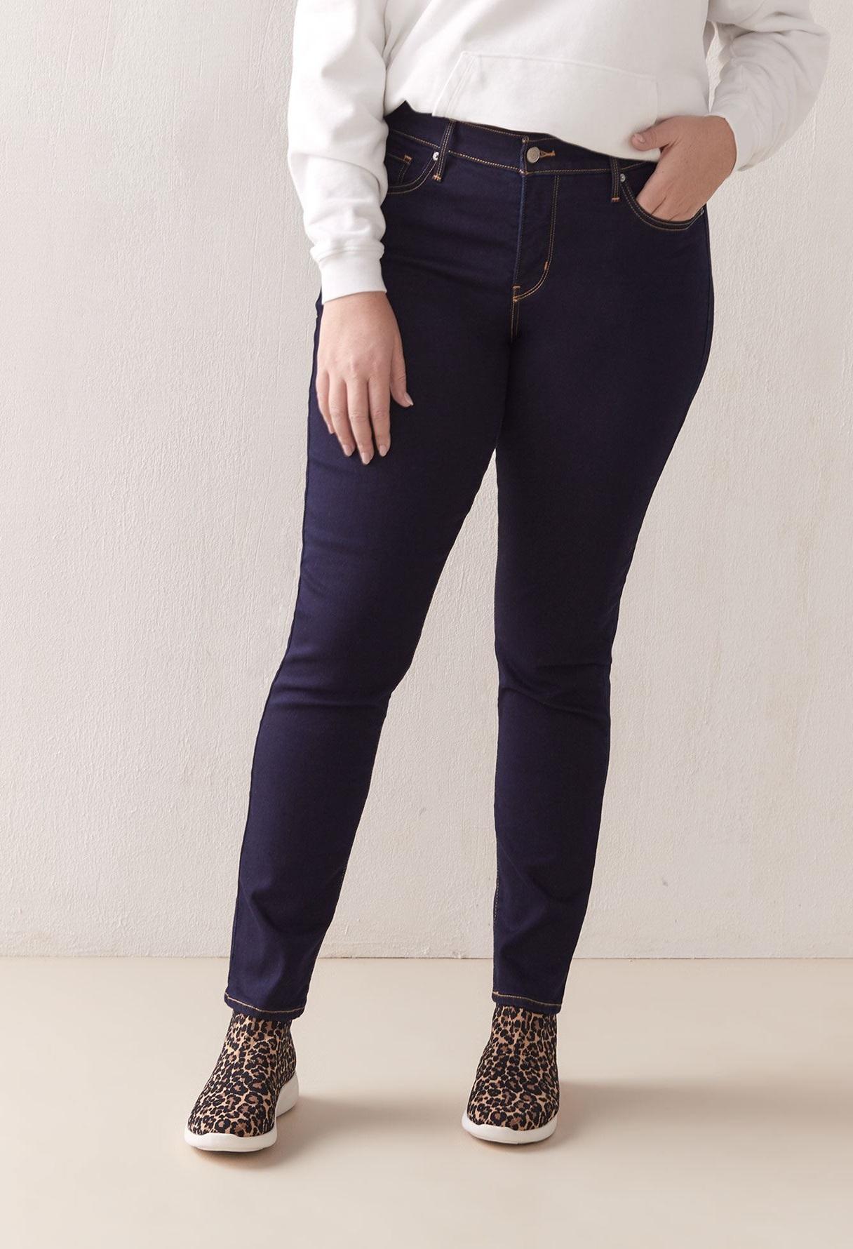 Hình ảnh minh họa quần jean nữ cho người mập