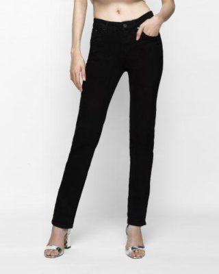 quần jean nữ ống đứng màu đen