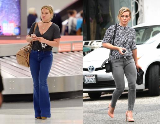 quần jean ống loe của Hilary Duff