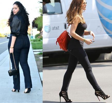 quần jean nữ tối màu cho vòng ba lớn