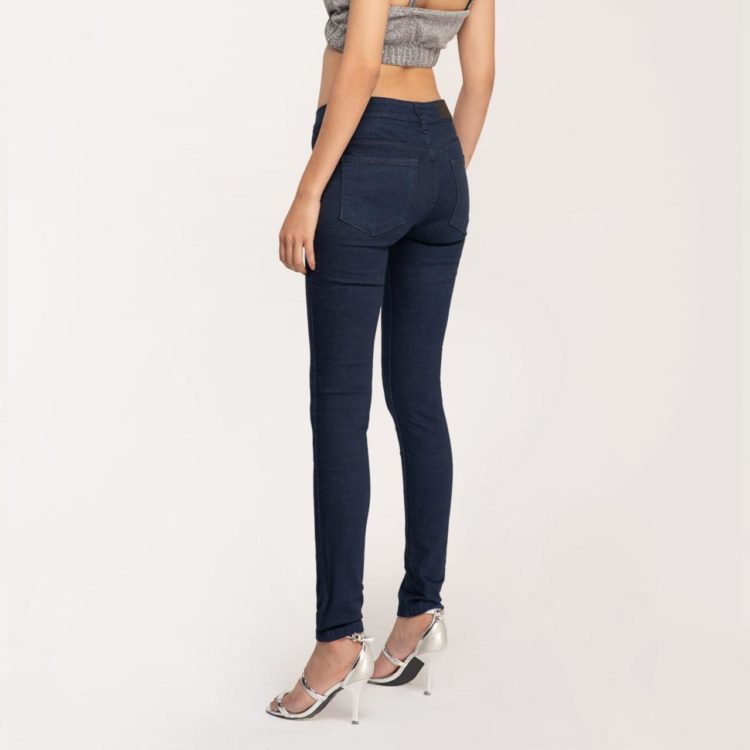 Quần Jeans Nữ Skinny Xanh Đen Lưng Vừa