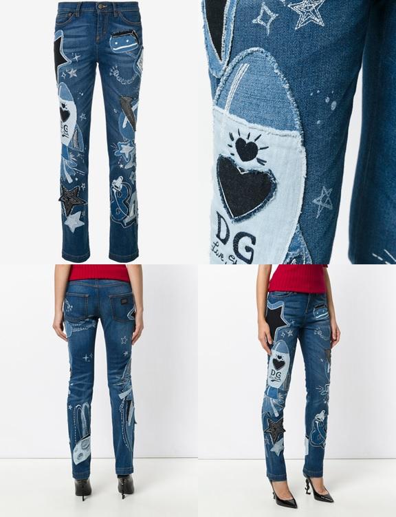 HÌnh ảnh chi tiết quần jean nữ của D&G