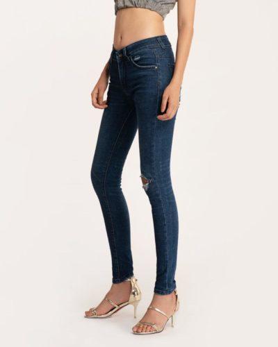 Quần Jean Nữ Skinny Rách Xanh Đậm – Meraki Collection