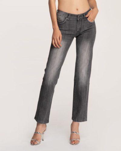 Quần Jean Nữ Slim Fit Màu Xám - Meraki