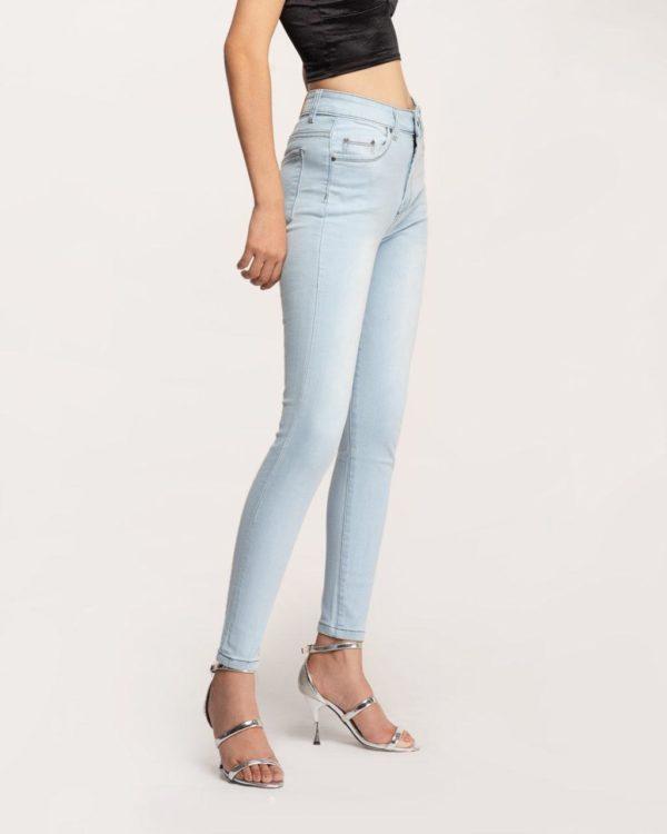Quần Jean Nữ Skinny Xanh Sáng Lưng Cao