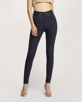 Quần Jean Nữ Skinny Xanh Đen Lưng Cao
