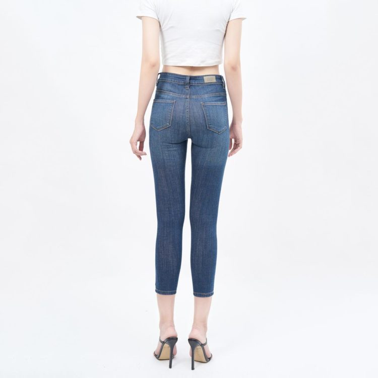 Quần jean nữ lưng cao ankle - UCSD RAYON
