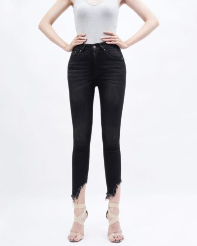 quần jean nữ AAA JEANS skinny lưng cao