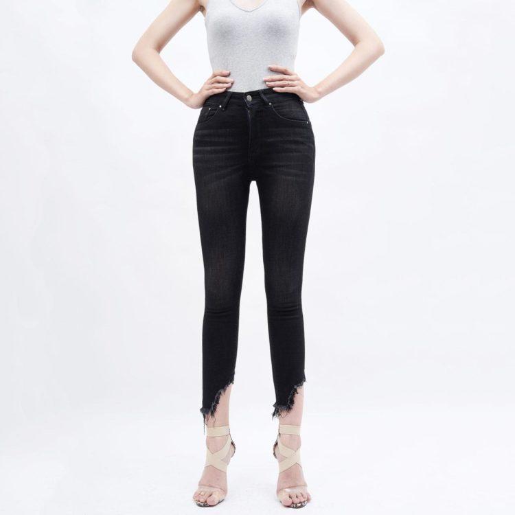 quần jean nữ AAA JEANS skinny lưng cao