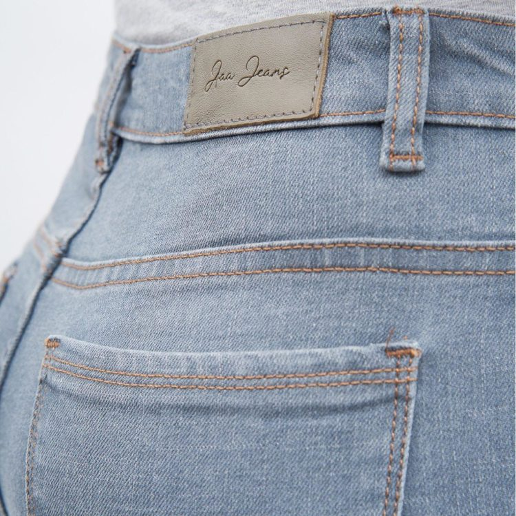 quần jean nữ skinny AAA JEANS lưng cao màu xám