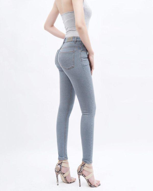 quần jean nữ skinny AAA JEANS lưng cao mầu xám