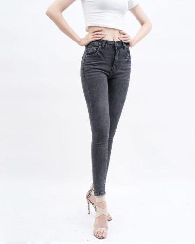 quần jean nữ skinny AAA JEANS lưng cao mầu xám LCW