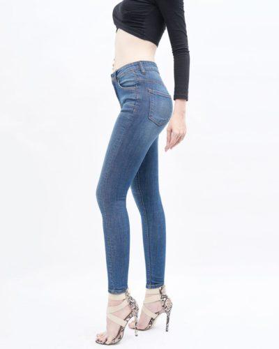Quần jean nữ lưng cao dark blue - UCSD RAYON