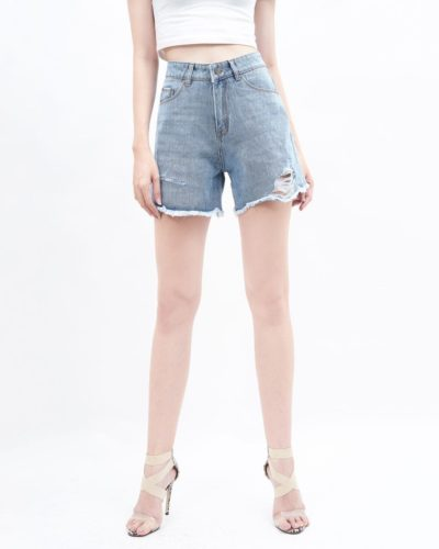 Quần short nữ lưng cao AAA JEANS