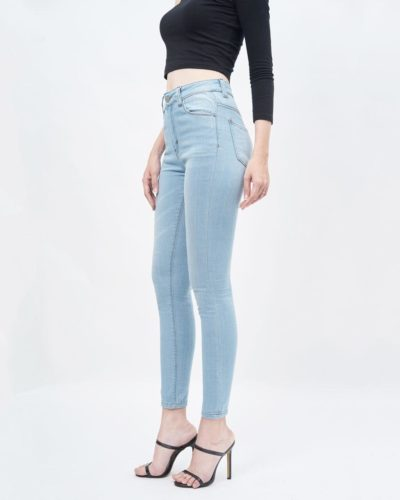 Quần jean nữ skinny lưng cao light blue - UCSD RAYON