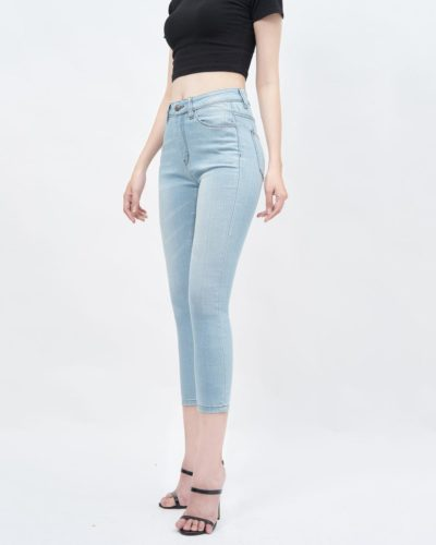 Quần jean nữ ankle skinny lưng cao light blue - UCSD RAYON