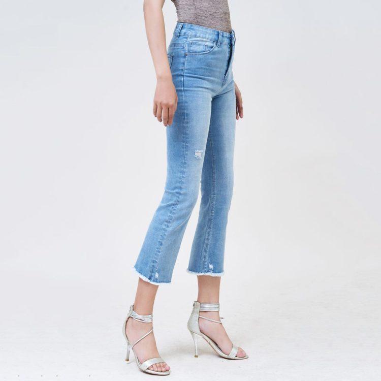 Hình Ảnh Quần jean nữ ống loe Aaa Jeans Savoy blue FLACTRTZC_SVE-2