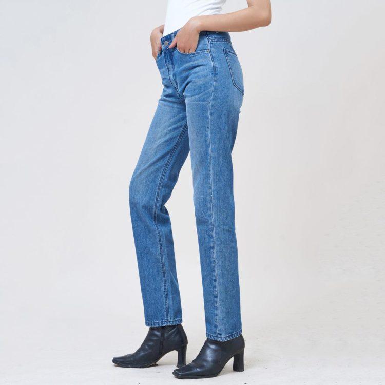 Hình Ảnh Quần Jean nữ slim Aaa Jeans màu xanh biển SLDCTRNZC_MBE-3