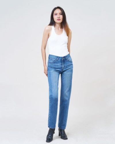 Hình Ảnh Quần Jean nữ slim Aaa Jeans màu xanh biển SLDCTRNZC_MBE-5