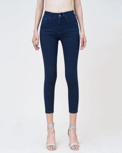 Hình Ảnh Quần jean nữ Aaa Jeans ankle skinny lưng cao xanh đen UR_SKACTRNZC_XD4H-1
