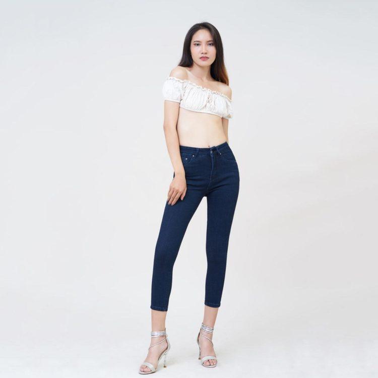Hình Ảnh Quần jean nữ Aaa Jeans ankle skinny lưng cao xanh đen UR_SKACTRNZC_XD4H-5