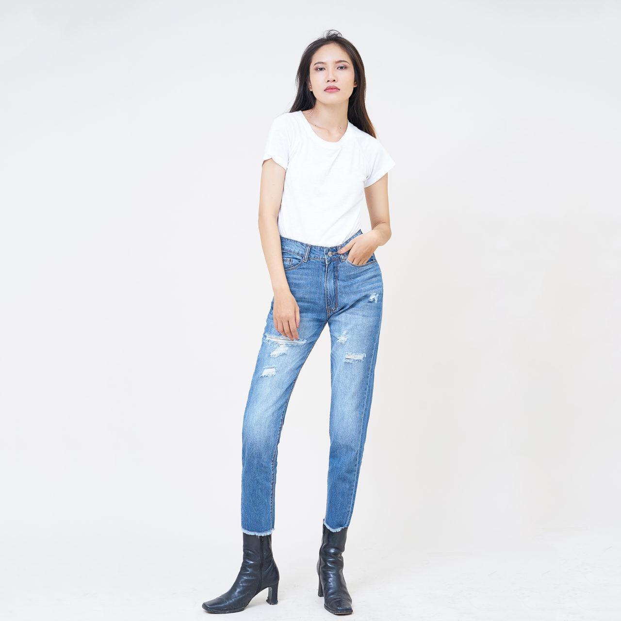 Quần Baggy Xanh Biển Aaa Jeans
