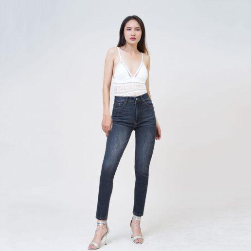 Quần jean nữ Aaa Jeans lưng cao skinny dark gray SKDCTRNZC_DGD-5