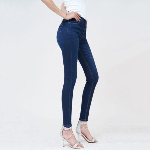 Quần jean nữ skinny lưng cao Sapphire Blue