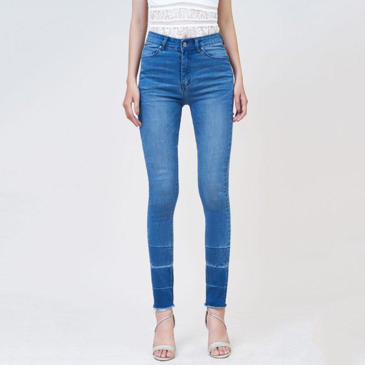 Hình Ảnh Quần jean nữ Aaa Jeans skinny lưng cao silver blue SKDCTRCZC_SVE-1