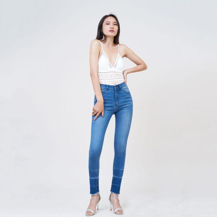 Hình Ảnh Quần jean nữ Aaa Jeans skinny lưng cao silver blue SKDCTRCZC_SVE-5