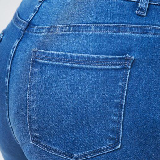 Hình Ảnh Quần jean nữ ống đứng dài lưng cao màu xanh đậm UR_STDCTRNZC_XDE-4