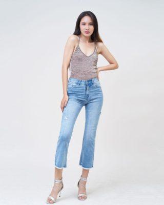 Hình Ảnh Quần jean nữ ống loe Aaa Jeans Savoy blue FLACTRTZC_SVE-5