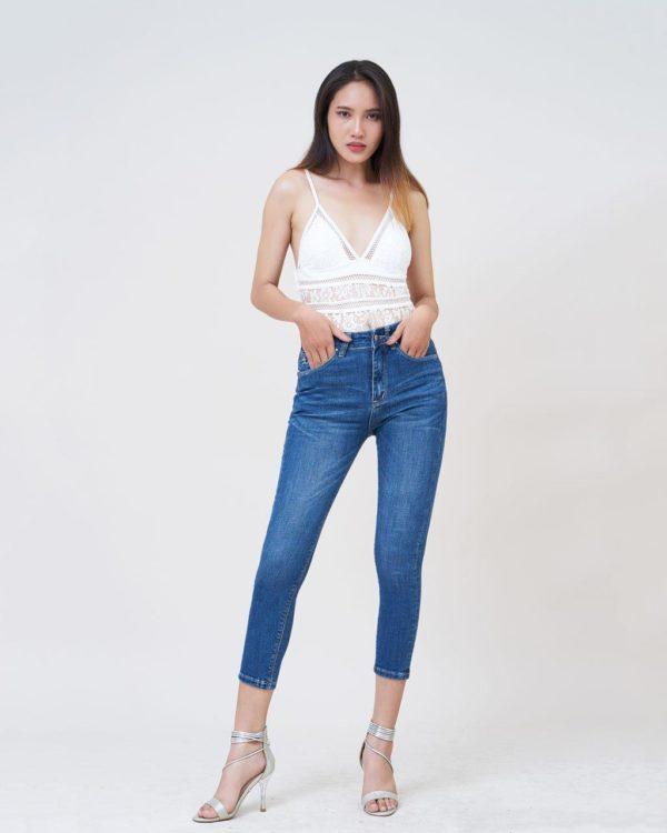 Hình Ảnh Quần jeans nữ Aaa Jeans ankle lưng cao UR_SKACTRNZC_XD2A-3