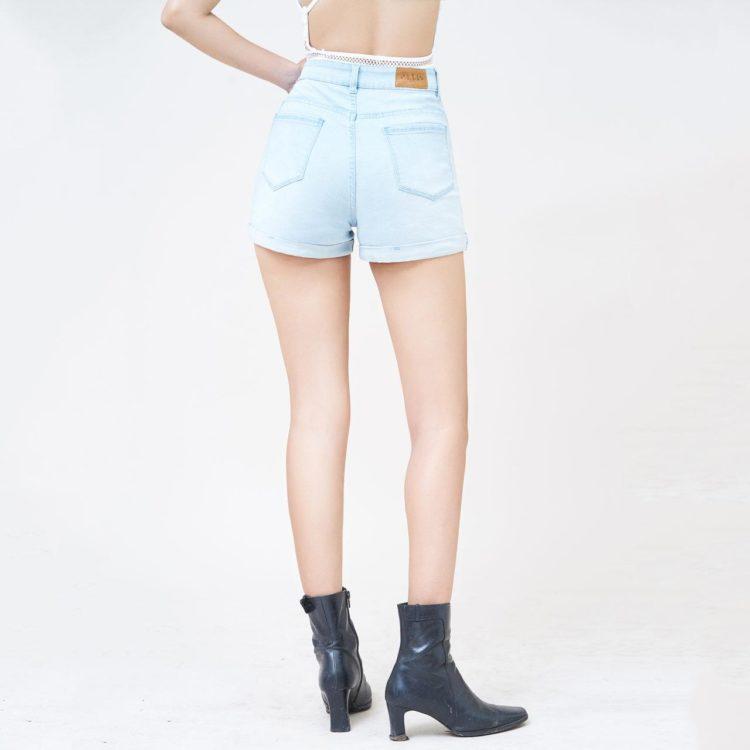 Hình Ảnh Quần short Aaa Jeans lưng cao baby blue SOSCTRLZC_JBB-3