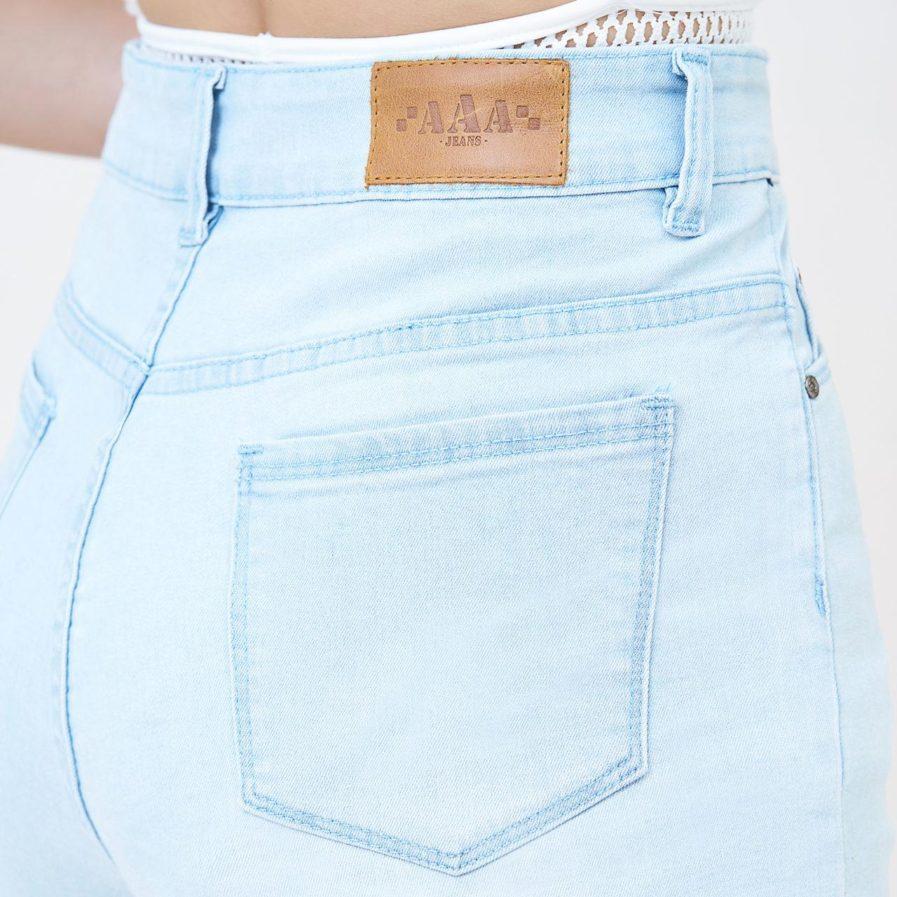 Quần Short Jeans Ôm Lưng Cao Baby Blue