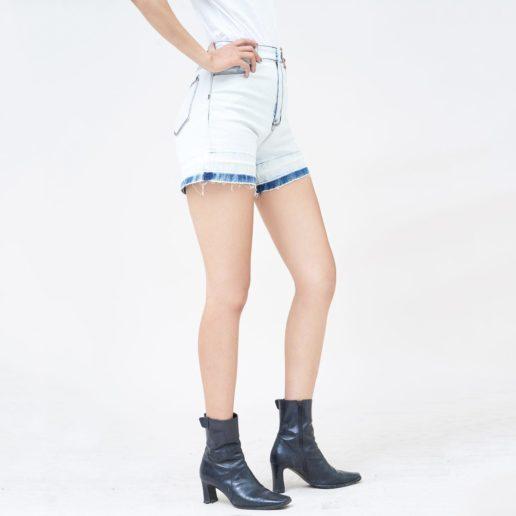 Hình Ảnh Quần short jean nữ Aaa Jeans lưng cao SOSCTRFZC_HWB-2