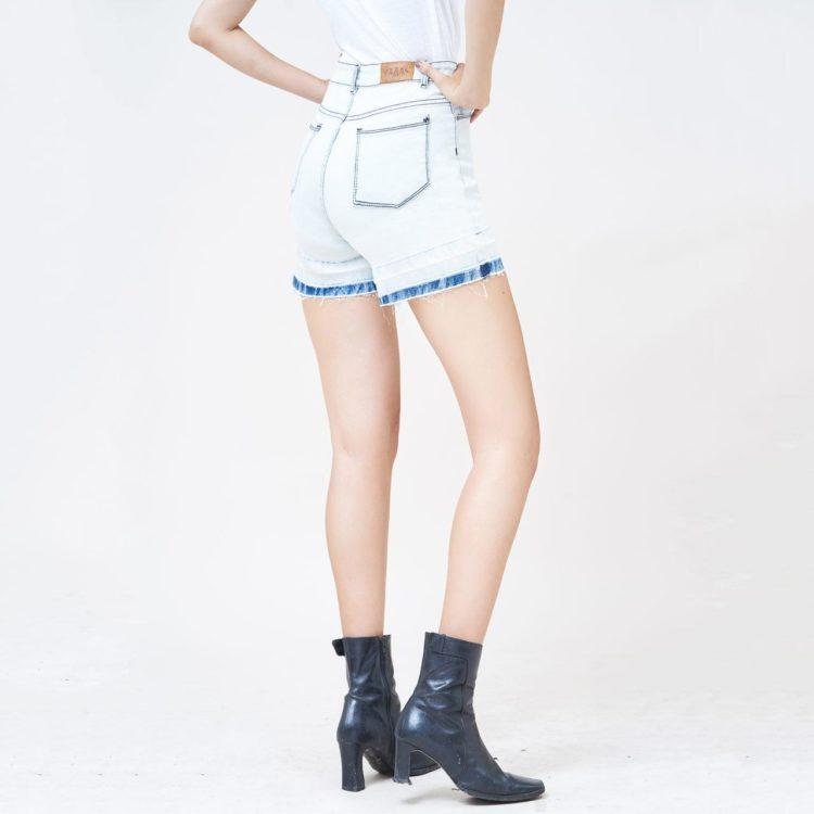 Hình Ảnh Quần short jean nữ Aaa Jeans lưng cao SOSCTRFZC_HWB-3