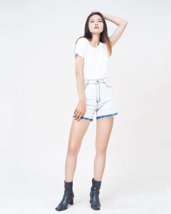 Hình Ảnh Quần short jean nữ Aaa Jeans lưng cao SOSCTRFZC_HWB-5