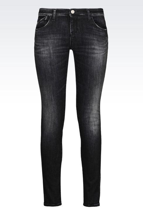 Hình Ảnh Sản phẩm Quần Jean Nữ Màu Đen Hiệu Armani
