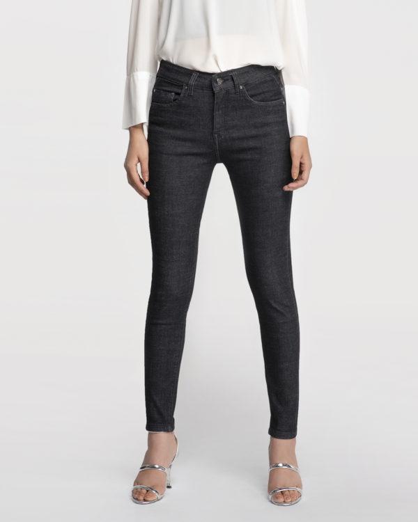 Hình ảnh Quần Jean Nữ Aaa Jeans Lưng Cao Đen Pepper-4
