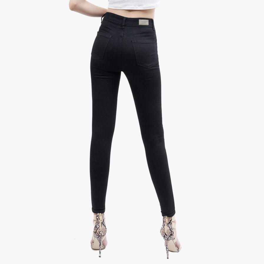 Hình ảnh sản phẩm Quần Jean Nữ cao cấp Hiệu AAA Jean màu đen chụp phía sau